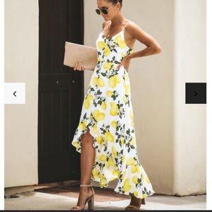 Vici 'Lemon Tree' High-Low Maxi Dress